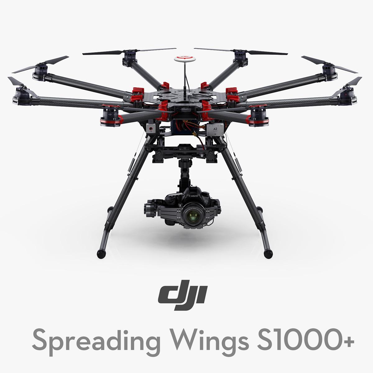 3d dji spreading wings s1000 model