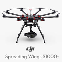 3d dji spreading wings s1000 model