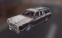 voxel american car 3d model