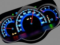 Car dashboard animated