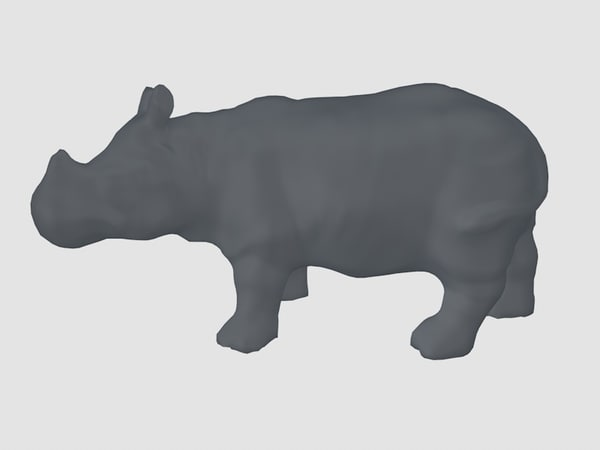 3ds rhinoceros base mesh