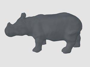 3ds rhinoceros base mesh