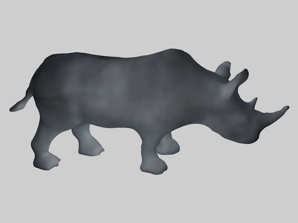 3d rhino base mesh
