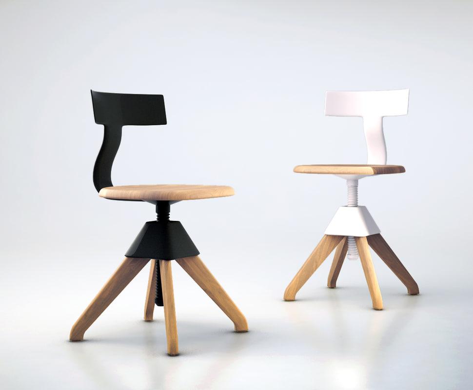 tuffy magis chair 3d model