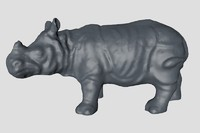 3d rhinoceros base mesh model