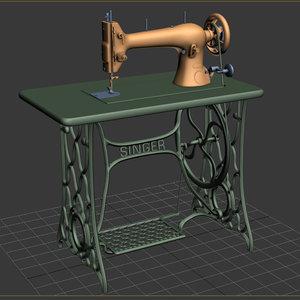 singer sewing machine 3d model