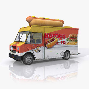 3d model hot dog food truck