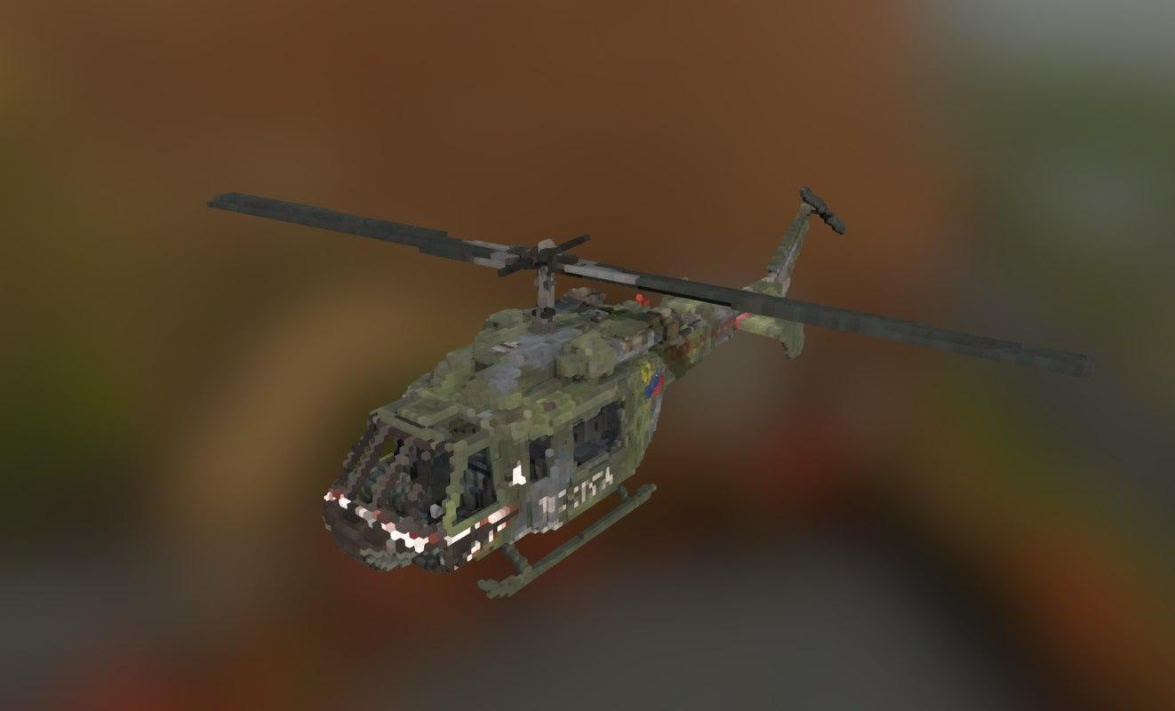 fbx voxel helicopter