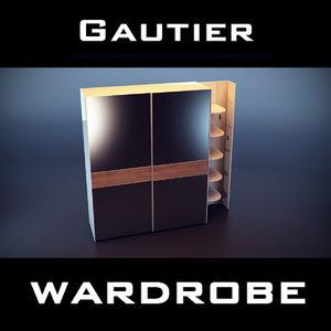 gautier wardrobe 3d model