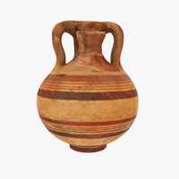 pottery greek ancient 3d model