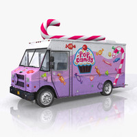 candy food truck 3d model