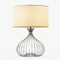 3d max nickel wire table lamp
