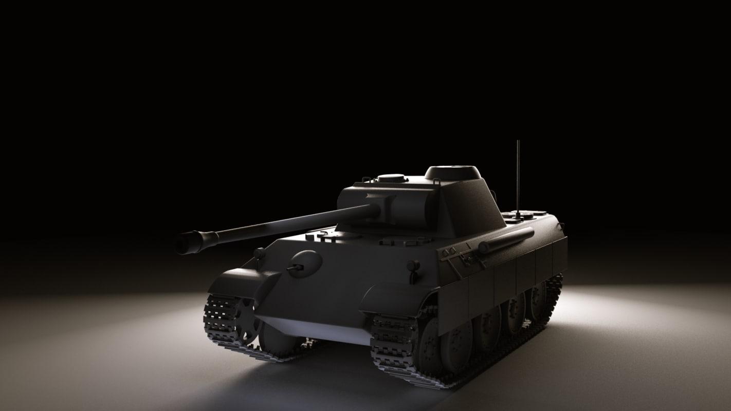 3d model german ww2 tank