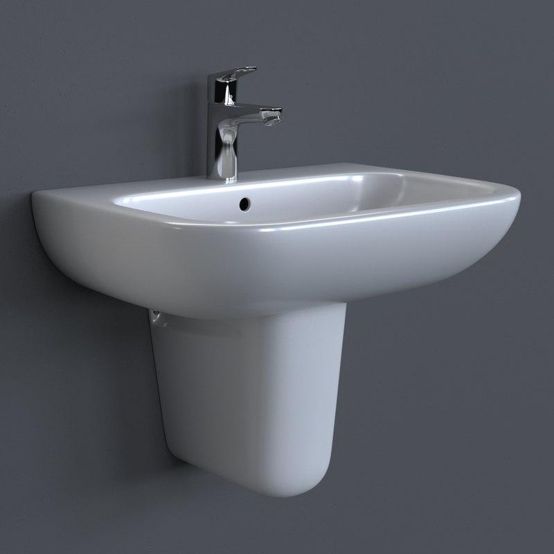 3d model photorealistic duravit d-code washbasin