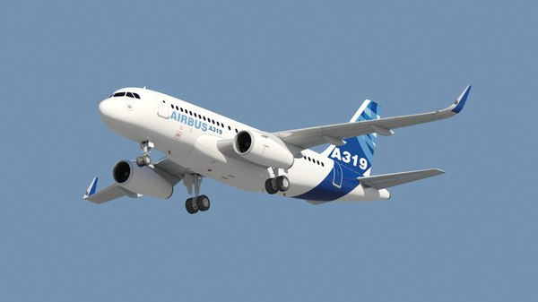 airbus a319 sharklet 3d model