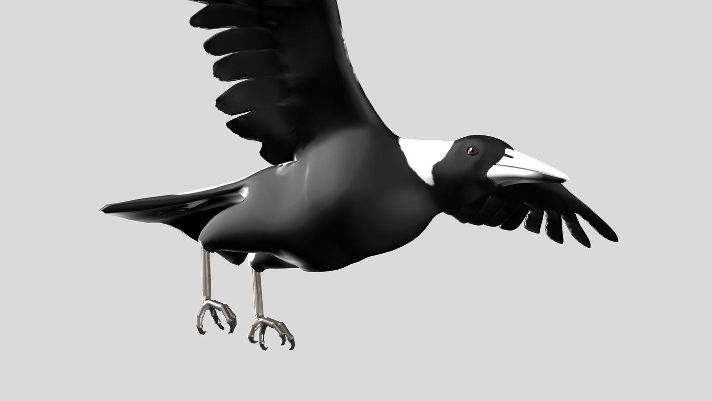 obj bird rigged