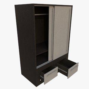 wardrobe blender contains 3d model