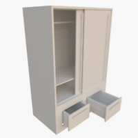 3d model wardrobe blender