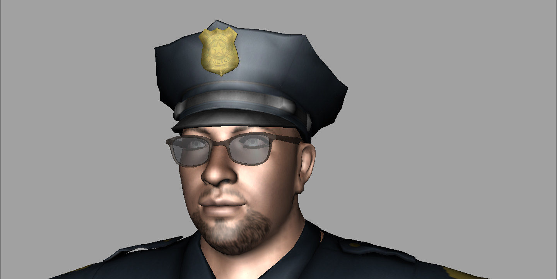 police officer 3d obj