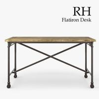 restoration hardware flatiron desk 3d max
