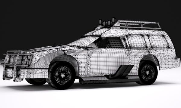 suv truck 2016 raw 3d model