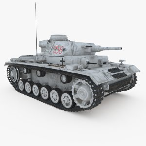 3d panzer iii ausf j model