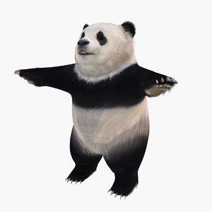 3d panda standing model