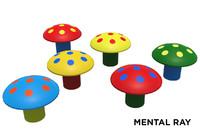 3d toy mushroom rubber
