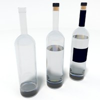 3d model bottle alcohol
