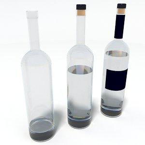 3d model bottle alcohol