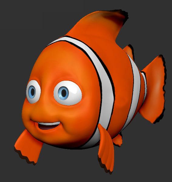 3d clown fish model