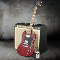 3d guitar model