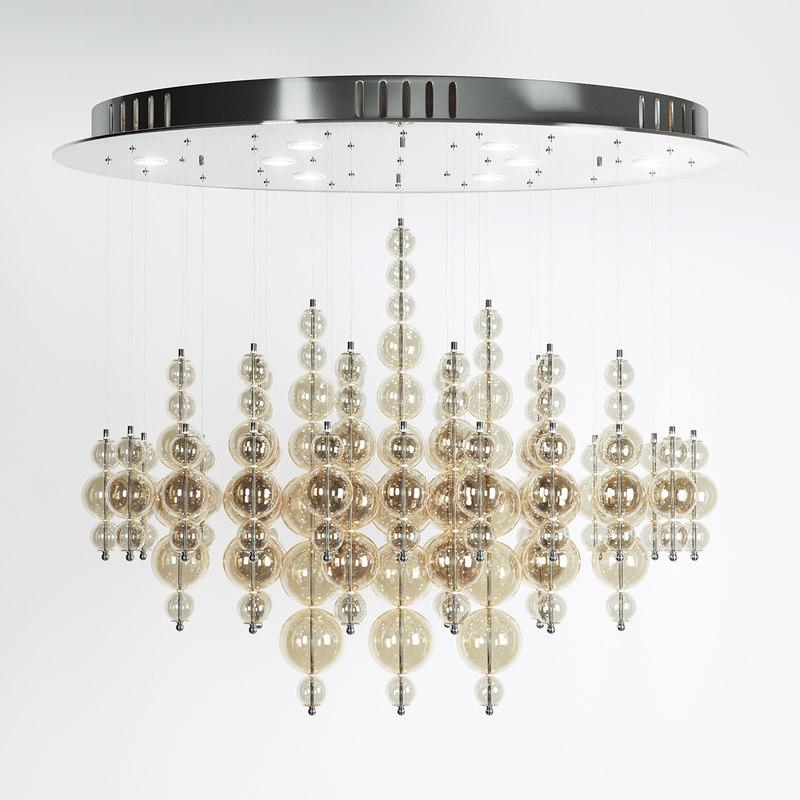 3d model chandelier bubbles cash pendant