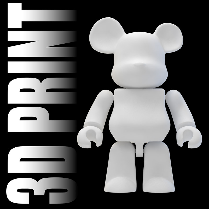 3d model mini bear brick