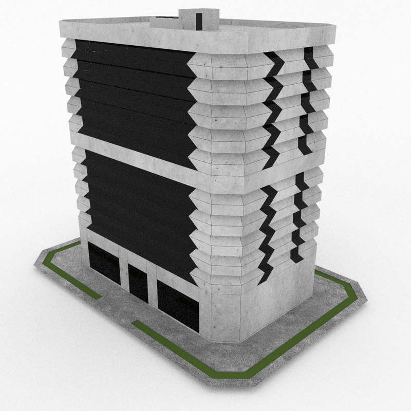 office build 27 3d model