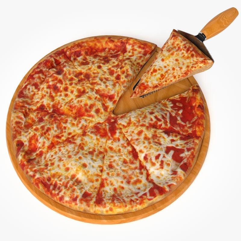 Pizza Real Realistic 3d Model