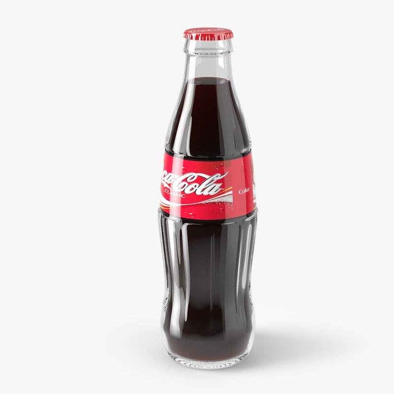 coca cola bottle 3d model
