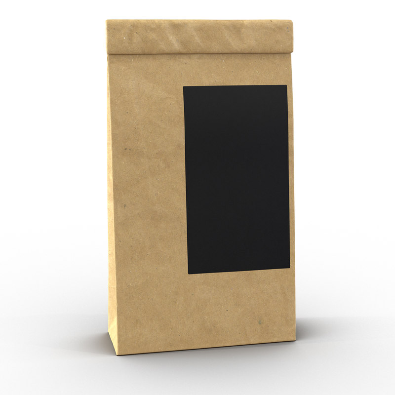 3d ground coffee bag paper