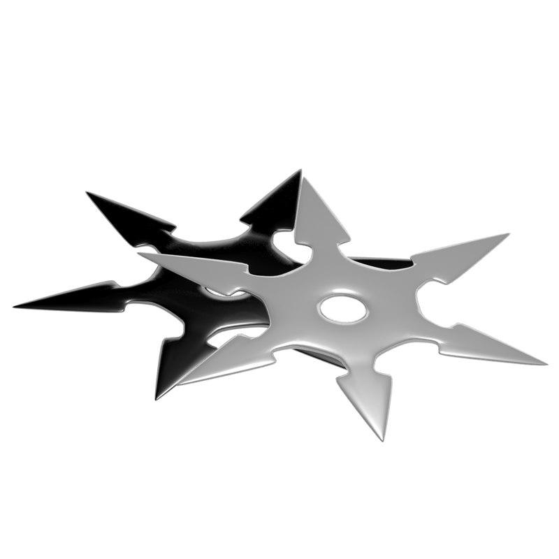 3d model shuriken japanese weapon