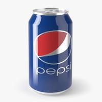 3d model pepsi cola