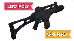 3d model of heckler koch g36kv rifle