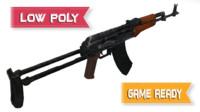 izhmash akms rifle 3d max