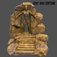 3d gate cave model
