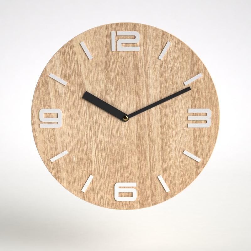 clock mdf 3d max