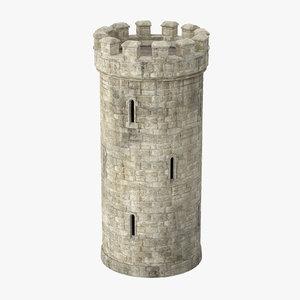 3d model turret -