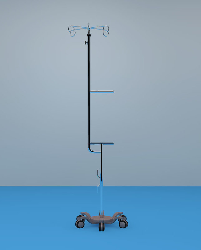 3d medical dripstand model