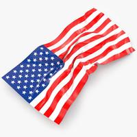 3d usa flag