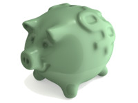 piggy bank 3d obj