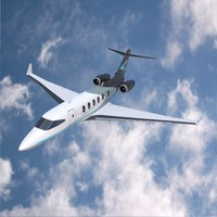 3d private jets model