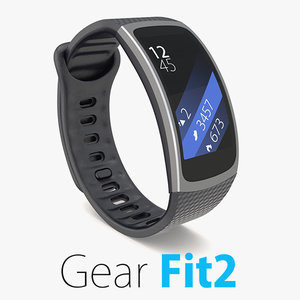 3d samsung gear fit2 2 model